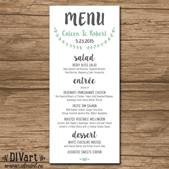 rehearsal dinner menu template koni polycode co