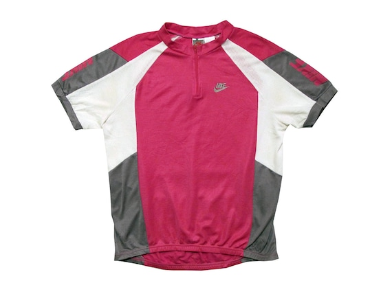 Nike Pink & White Cycling Shirt