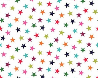 WRAP IT UP fabric patchwork Stars on white x50cm cooton