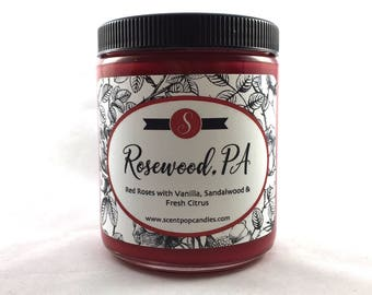 Rosewood, PA, Pretty Little Liars Inspired Soy Candle