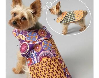 Sewing Pattern for Patchwork Dog Coats, Kwik Sew # 4092, Pet Coats, Dog Jackets