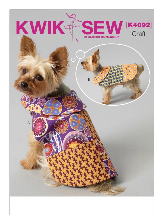 Schnittmuster für Hundemäntel Patchwork Nähen Kwik 4092