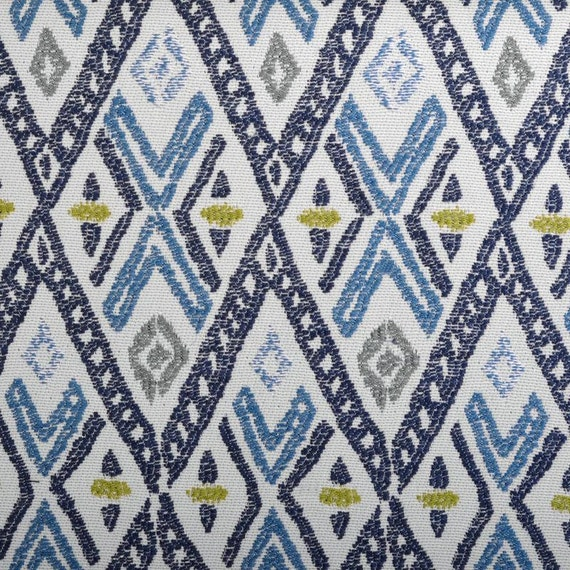 navy blue and grey woven ikat upholstery fabric for furniture. Black Bedroom Furniture Sets. Home Design Ideas