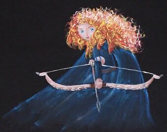 Brave, Merida, hand-painted T-shirt