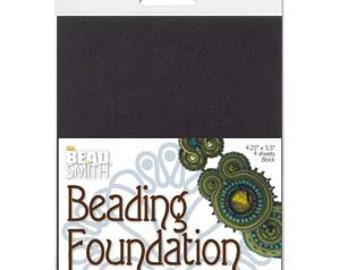 Small Beading Foundation 4 Black Sheets
