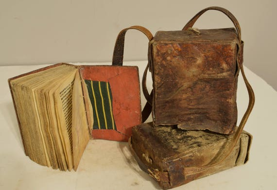 Ethiopian Bible Book of The Psalm of David Parchment Paper Leather Enclosed Case Early 20th Century