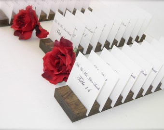 Place Card Holders + Rustic wedding Plank Place Card Holders