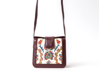 Suzani Shoulder bags, Silk Hand Embroidered Suzani Bag