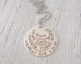 Personalized Mom Gift, Personalized Grandma Gift, Personalized Grandma Necklace, Personalized Grandma Jewelry, Personalized Mom Necklace