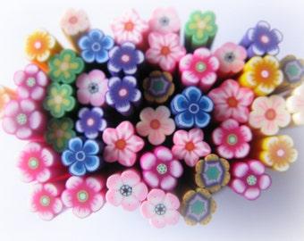Flower Canes Polymer Clay Nail Art Kawaii Fake Faux Food Miniature
