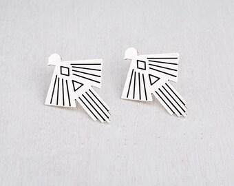 Bird Earrings, Mexican Earrings, Silver Stud Earrings,Geometric Earrings, Statement Earrings, Trending Earrings, Stud Earrings For Women's