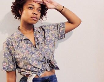 Vintage Floral Button Up Shirt