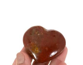 Petrified Wood Heart / Polished Petrified Wood/ Healing Crystal /50g