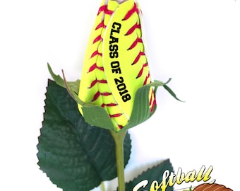 Softball Rose with Graduation Year