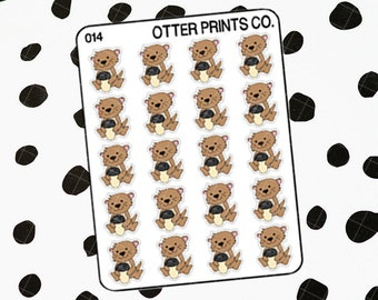 Coffee or Tea || Otis the Otter Character Stickers