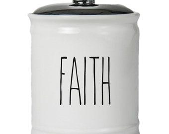 Faith Word Jar With Lid - Money Coin Jar - Money Bank - Money Jar - Money Jar With Lid