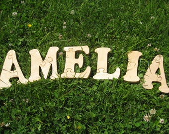 AMELIA name Puzzle Toy Girls name Baby words Baby name Kids puzzles Kids names Developmental puzzle toys Educational puzzle Puzzle Spielzeug