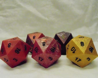 Giant D20 Die in handcast resin by TDAWG