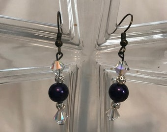 Purple Earring Set