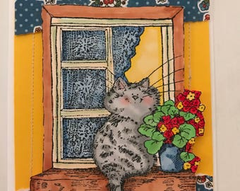 Cat Inspired Greeting Card
