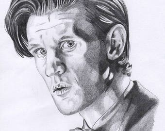 The 11th Doctor A4 Drawing Print