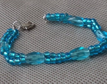 Bracelets for women, Beaded jewelry, Beaded hand made bracelet,Mother's day gift, Hand made gift for her, Blue  bracelet, Seed bead bracelet