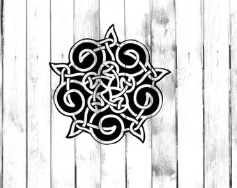 Five Pointed Celtic Knot Design - Di Cut Decal - Home/Laptop/Computer/Phone/Car Bumper Sticker Decal