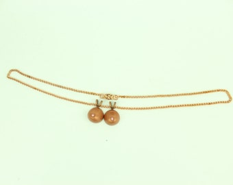 Vintage Copper Breast Pendant Necklace