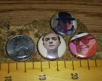 TRUMAN CAPOTE 3 Buttons one inch pin back badge set