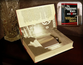 Hollow Book Safe with Flask - The Nightmare Years - Secret Book Safe