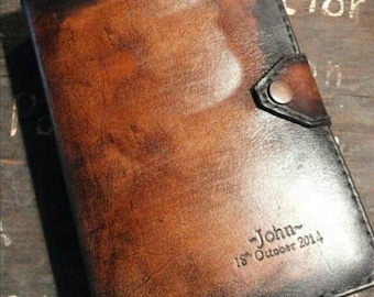 Handmade STANDARD size JW Leather Bible cover for New World Translation (silver edition)