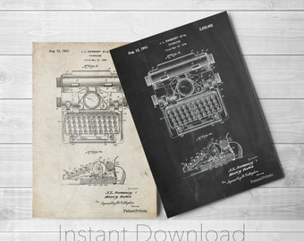 Typewriter Printables, Typewriter Print, Antique, Business Art, Office Decor, Secretary Gift, Vintage Typewriter, PP1029