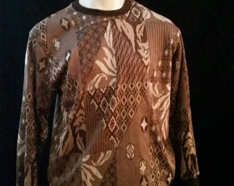 Vintage Brown Cosby Sweater LARGE