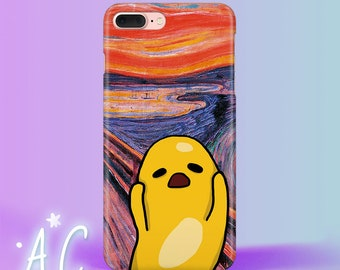 Gutema egg iphone 8 Plus Case The Scream iPhone X Case Gutema iPhone 7 8 Case iphone 6S Case Edvard Munch iphone 5S Case iphone SE Case