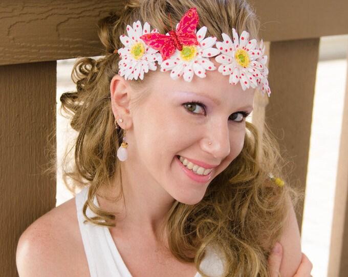 White Daisy Flower Crown