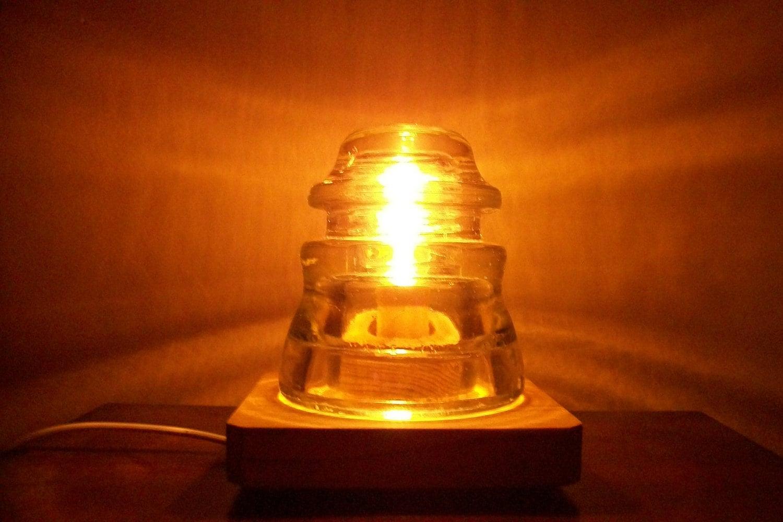 Vintage insulator light perfect for romance railroad zoom arubaitofo Choice Image