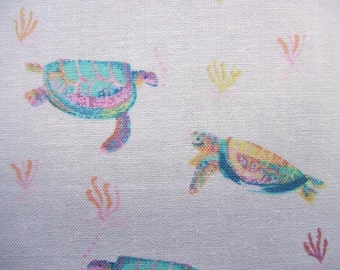 Life Aquatic Sea Turtles Sealife Ocean Dear Stella Fabric Yard