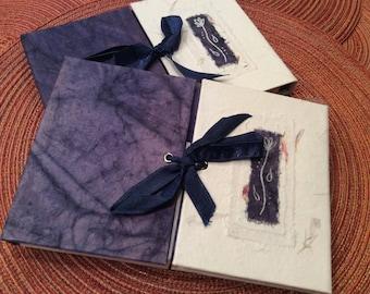 paper supplies ... beautiful ARTISAN JOURNAL Blue Batik Collection handmade paper with pen ...