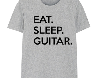 Guitar T-shirt Mens Womens Gifts For Guitar Players Eat Sleep Guitar shirts - 626