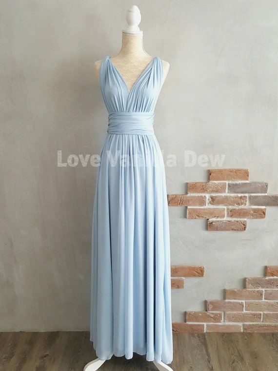 Bridesmaid Dress Infinity Dress Powder Blue With Chiffon