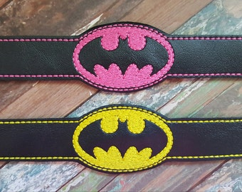 Bat Hero Child Bracelet - Party Favors !! Birthday Gift !! Pink or Yellow !!