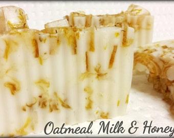 Oatmeal, Milk & Honey Soap, handmade soap, calendula soap, glycerin soap, melt and pour soap, oatmeal fragrance soap