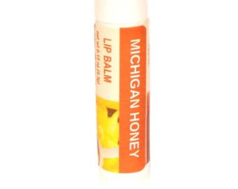 Lip Balm -  Michigan Lip Balm - Honey lip balm - flavored lip balm - moisturizing lip balm - honey lip balm - lips