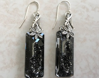 Handmade Beautiful Swarovski and Sterling Silver Earrings...FREE SHIPPING