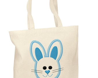 Personalized Cotton Tote Bags Custom Easter Gift Bags - Easter tote bag