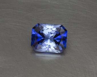 Blue Sapphire Loose Lab Created Conflict Free Radiant Cut Modern Brilliant Emerald Cut Faceted Handmade Gemstone
