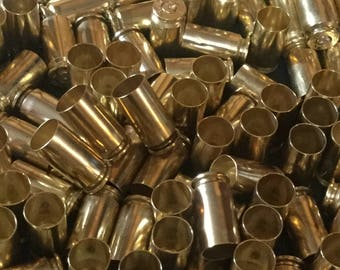 Lot of 50 .40 S&W caliber brass bullet casings, bullet jewelry, bullet earrings, 40 shells, 40 casings,reloading supplies