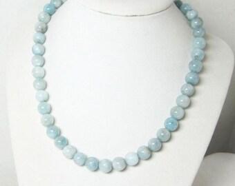 Aquamarine Necklace - Aquamarine Jewelry - Mint Necklace - Blue Green, Gemstone Necklace - Unisex