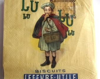 20 napkins LU BISCUITS - LEFEVRE useful REF.   3865