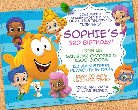 Bubble Guppies Invitation Bubble Guppies Birthday Bubble